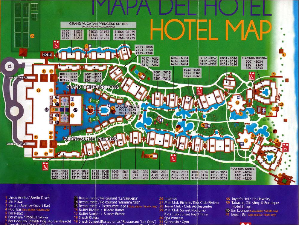 Grand Sunset Princess Map Resort Map