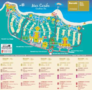 Barcelo Bavaro Beach Resort Map Maya And Caribe Quintana Roo Mexico